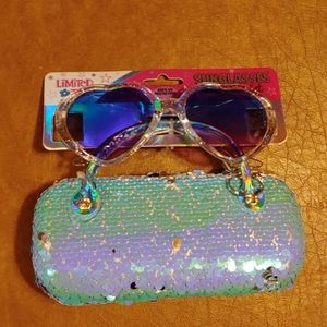 NEW Limited Too sunglasses with flip hard case